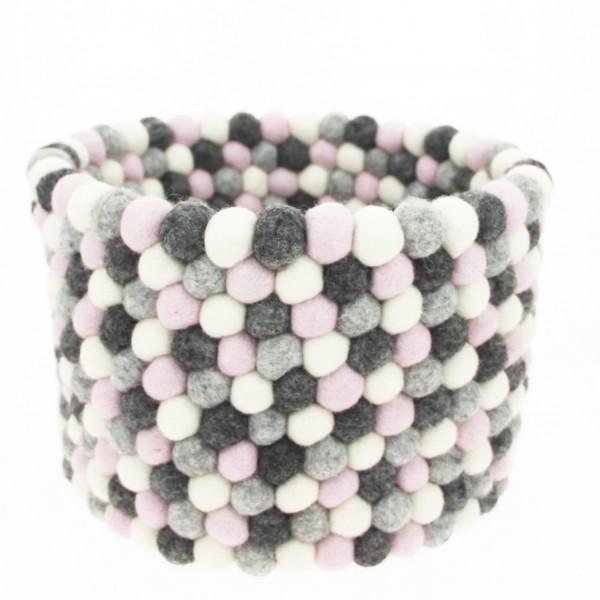 Corbeille de rangement Bonbon - gris rose