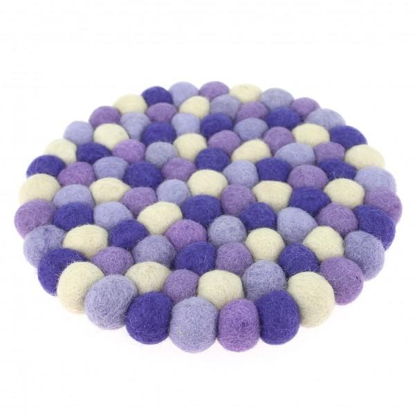 Dessous Décoratif Orchidée - violet parme beige
