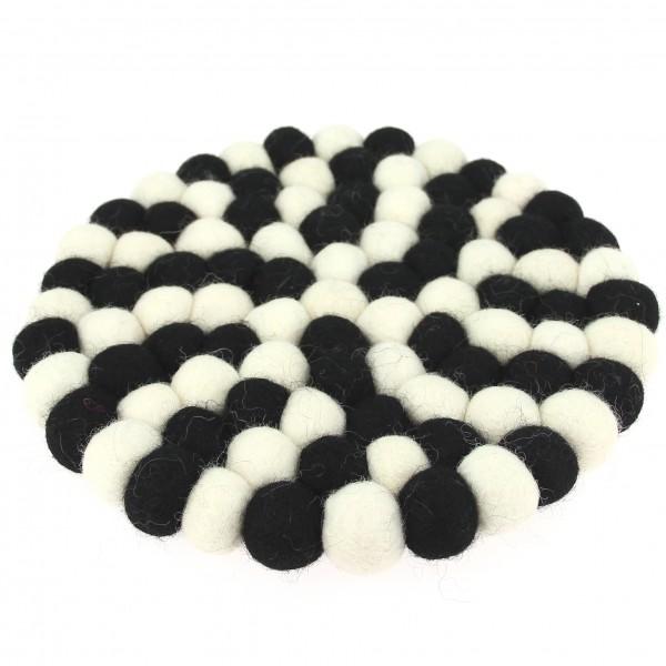 Dessous Décoratif Alchimie - blanc noir