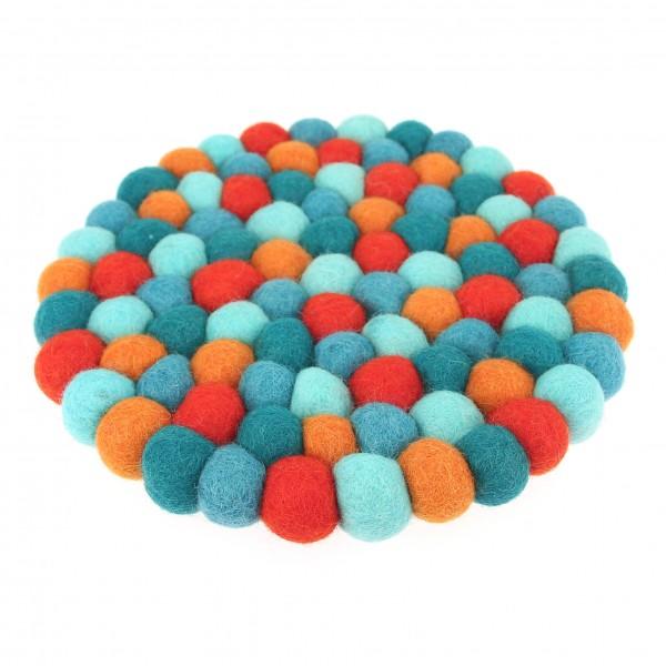 Dessous Décoratif Lagon - bleu orange