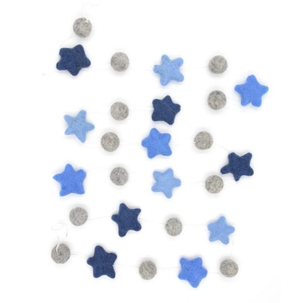 Guirlande décorative étoile Marine2 - bleu marine gris