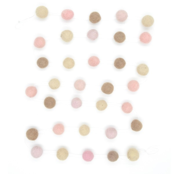 Guirlande décorative Girl - taupe rose beige