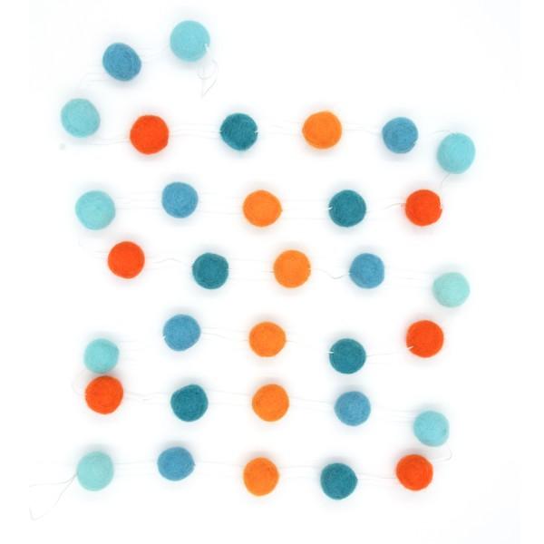 Guirlande décorative Lagon - bleu orange
