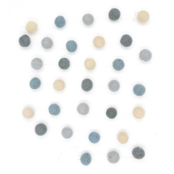 Guirlande décorative Souris - gris blanc