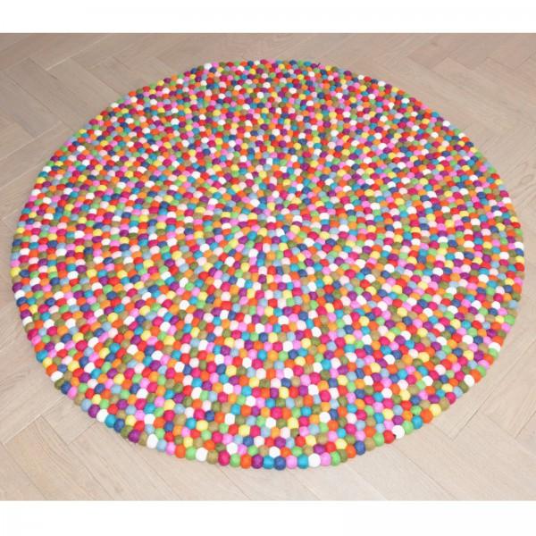 Tapis de boules en laine Multicolore - multico