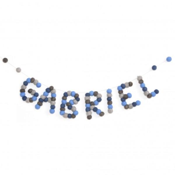 Guirlande personnalisée prénom - Entre 7 et 12 lettres