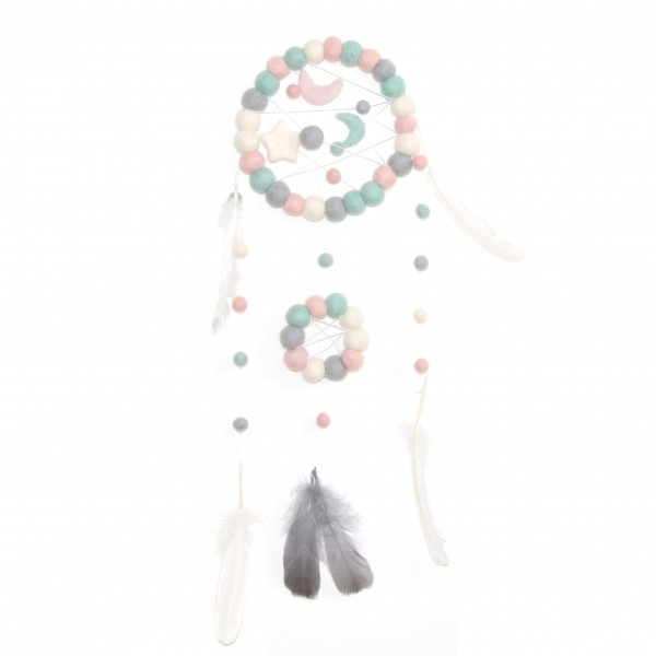 Dreamcatcher Acidulé - mint rose gris blanc