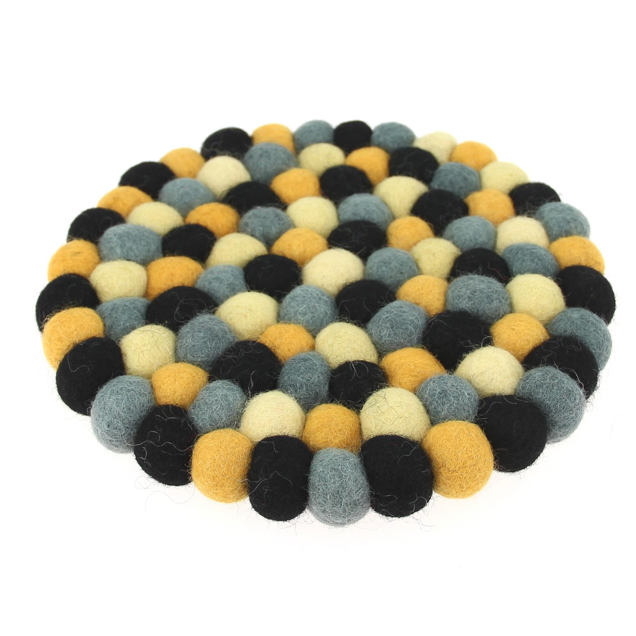 dessous d coratif calcaire gris noir jaune bopompon. Black Bedroom Furniture Sets. Home Design Ideas