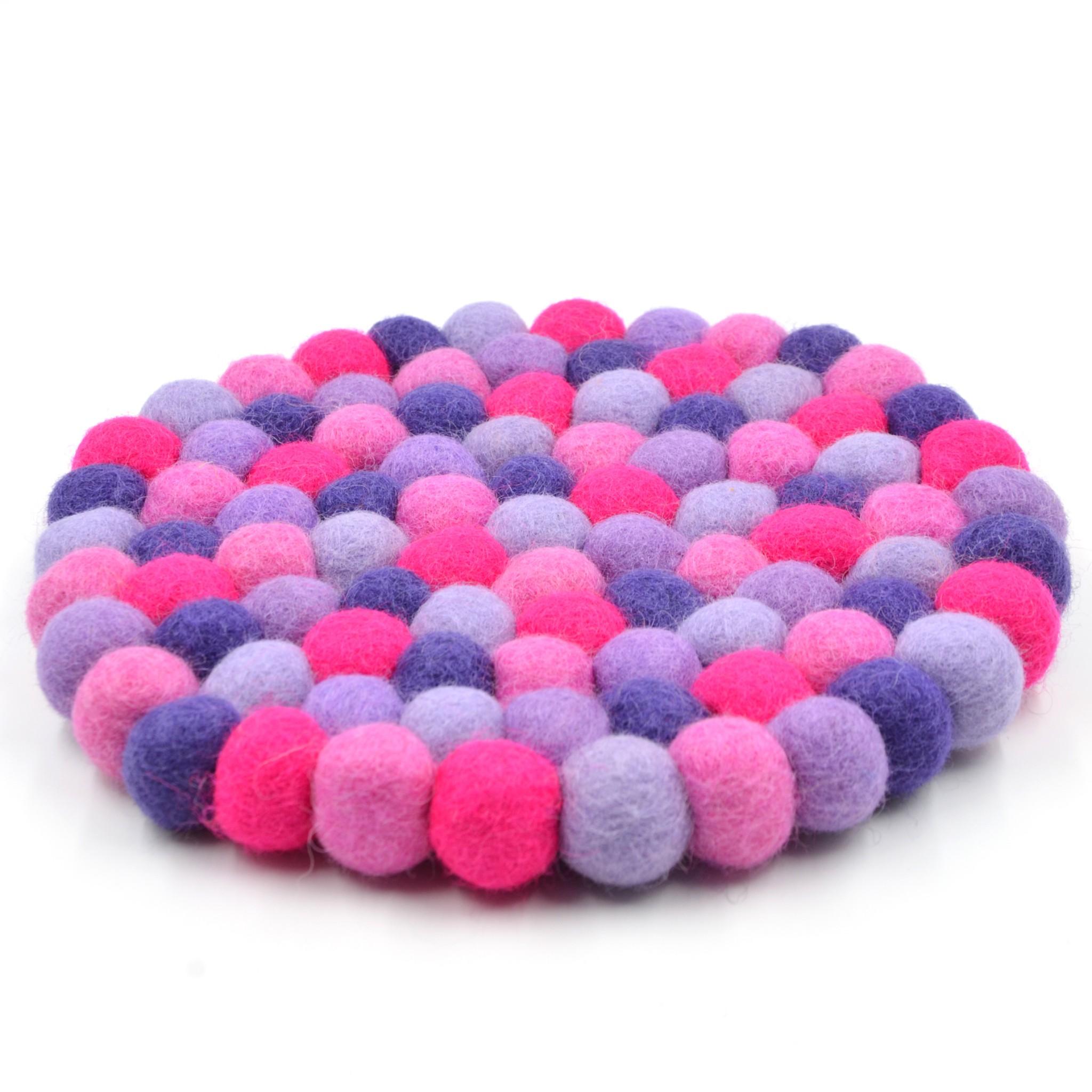 dessous d coratif violine violet parme rose bopompon. Black Bedroom Furniture Sets. Home Design Ideas